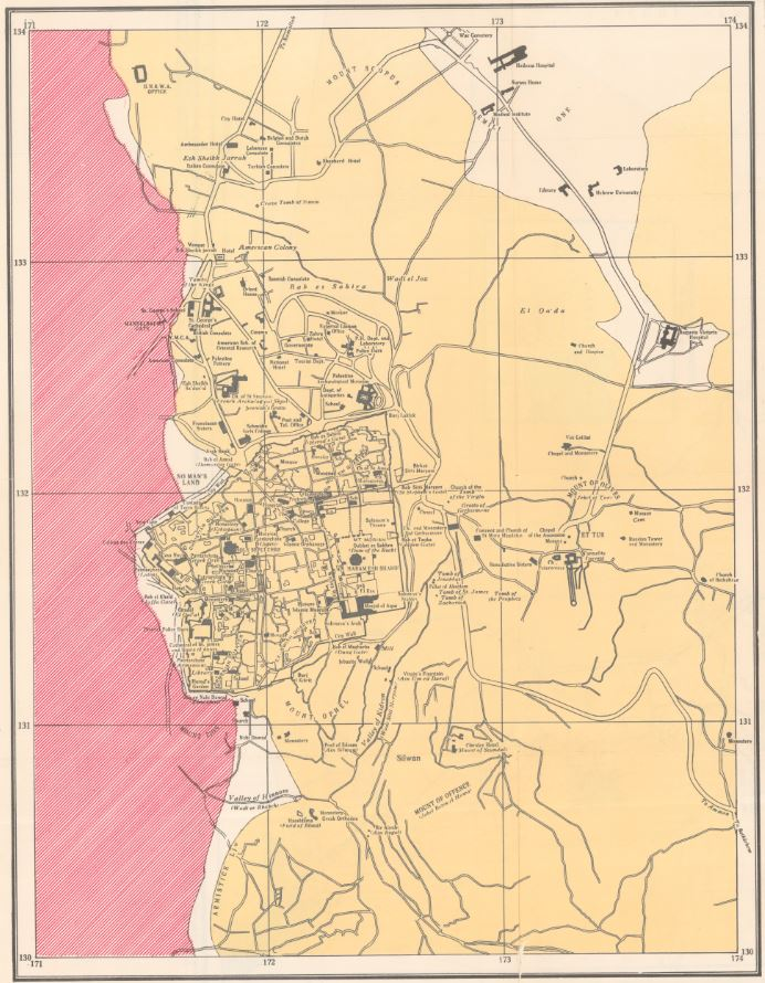 Jerusalem Pre-1967: A Look at Maps from Both Sides of the Border