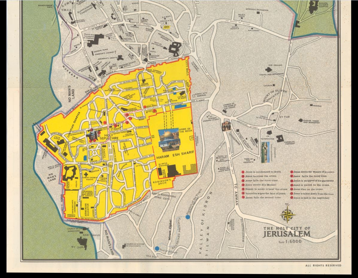 Jerusalem Pre-1967: A Look at Maps from Both Sides of the Border on us and north america map, world map, africa map, historical map, east and southeast asia map, data visualization map, geographic map, topological map, geographical map, cartography map, tierra del fuego map, history map, political map, present day map,