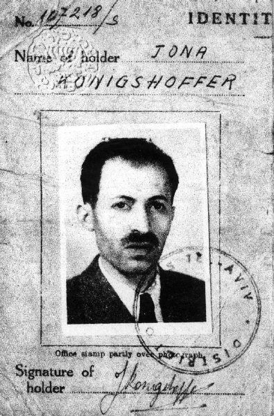 The forged Dr. Koenigshoffer passport. From the Jabotinsky Institute collection
