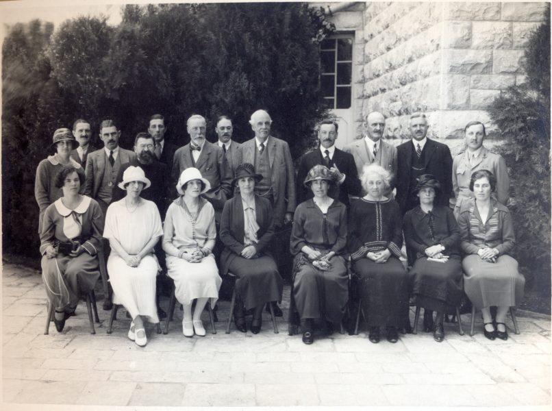 מסיבה באוגוסטה ויקטוריה לכבוד פתיחת האוניברסיטה. משתתפים האורחים הנכבדים שהגיעו לטקס, 1 באפריל 1925
