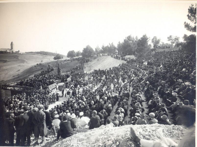 טקס פתיחת האוניברסיטה העברית בהר הצופים, 1 באפריל 1925
