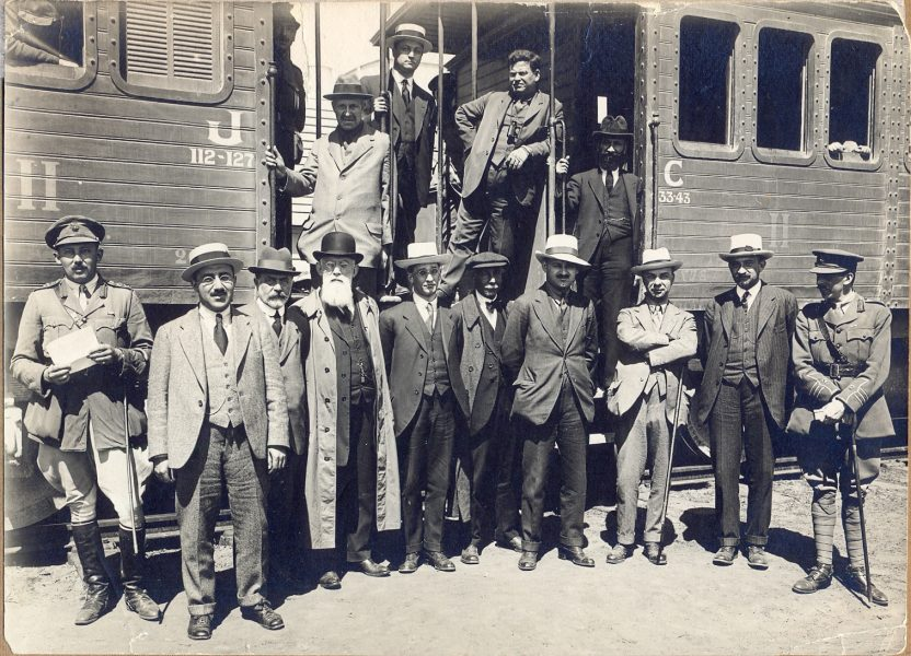 ועד הצירים בתחנת הרכבת בלוד, 4 באפריל 1918