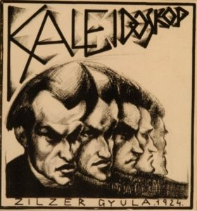 "The cover drawing of the album ""Kaleidoskop"" by Gyla Zilzer, 1924"