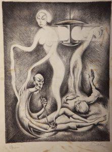 """""""אופיום"""" מאת דיולה צילצר, ליתוגרפיה"""