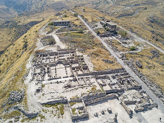 An aerial photograph of the Susita archaeological site. Photo: Michael Eisenberg