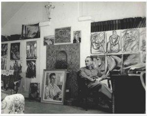 דיולה צילצר באטלייה שלו בערך ב- 1943