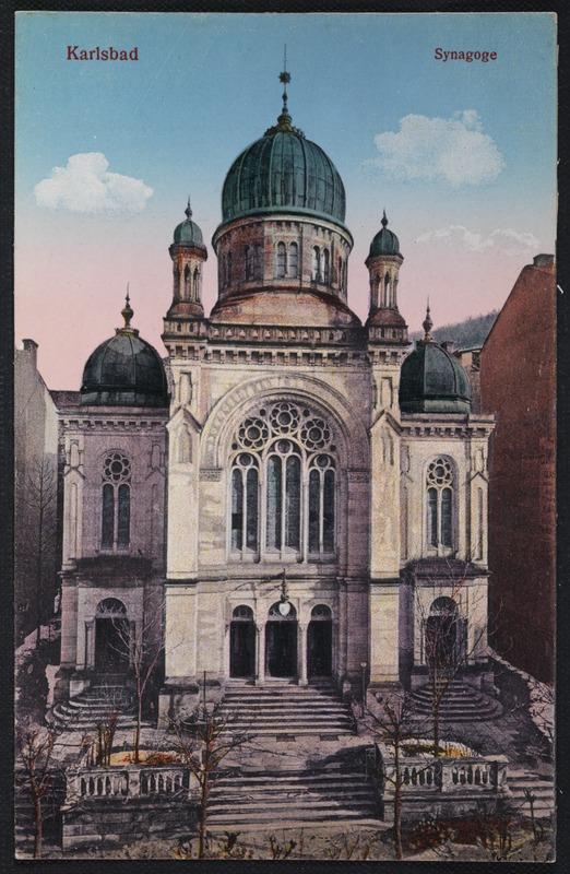בית הכנסת הגדול בעיירת הנופש קרלסבד. נבנה בשנת 1877 ונשרף בידי הנאצים במאורעות ליל הבדולח