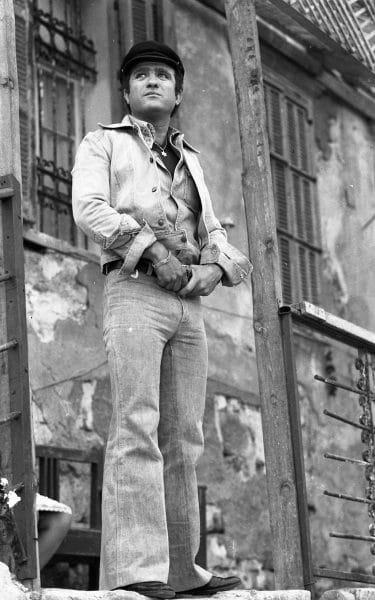 יהורם גאון, בצילומים לקזבלן, 1973. צילום: אוסף דן הדני