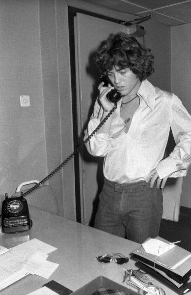 שלמה ארצי מתכונן לאירוויזיון, 1975. צילום: שלמה סתר