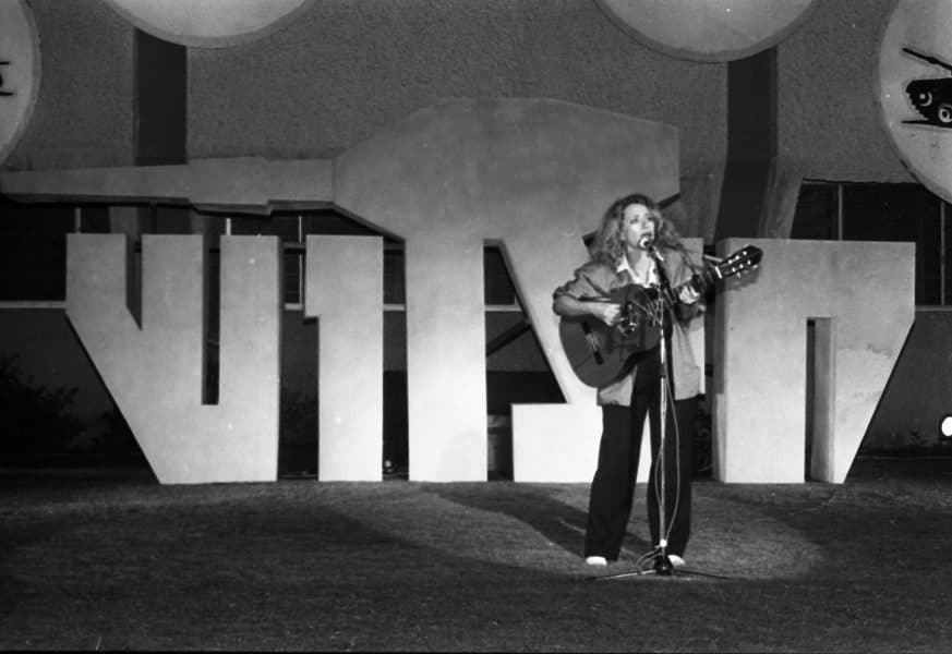 חוה אלברשטיין, 1984. צילום: דן הדני