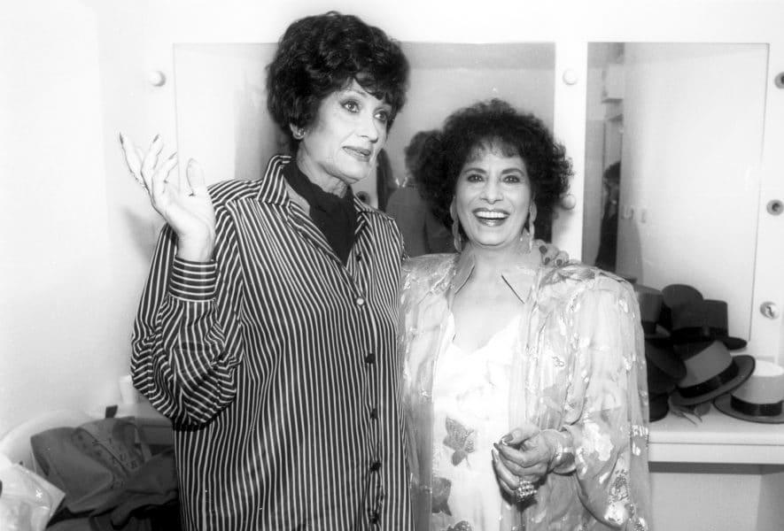 יפה ירקוני ושושנה דמארי, 1989. צילום: ורד פאר