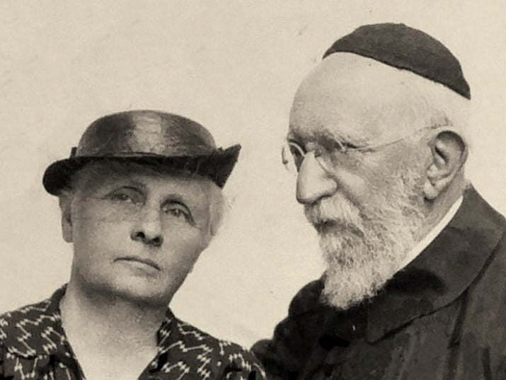 Rabbi Immanuel Löw and his wife Belle Breuning