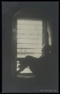 Jabotinsky in his prison cell in Acre, following his arrest by British authorities in the wake of the riots of 1920.