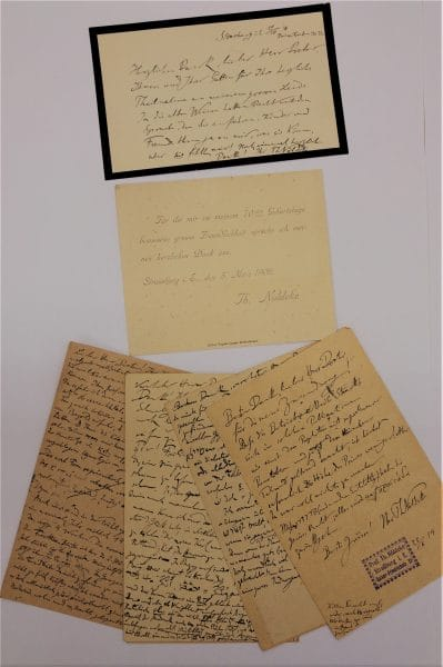 Theodor Nöldeke to Rabbi Immanuel Löw