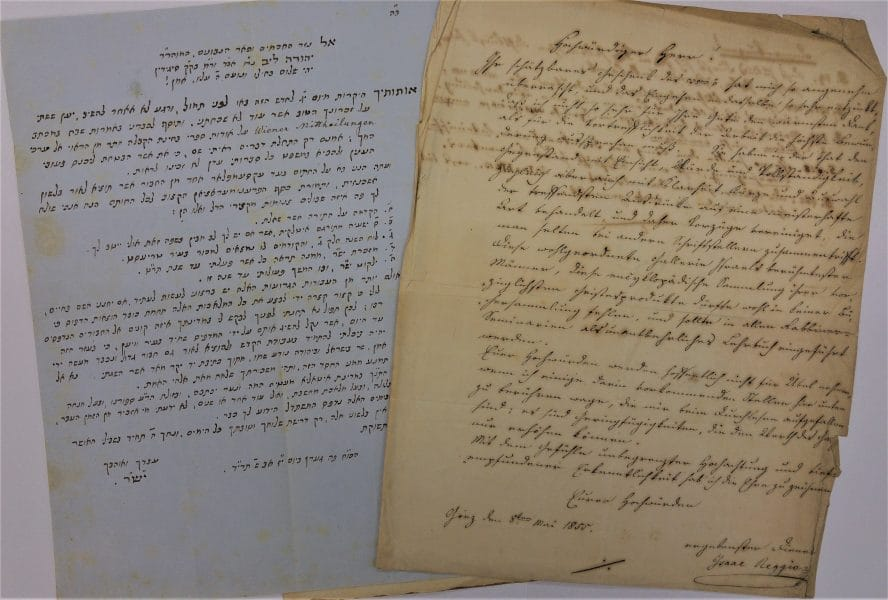 Isaac Samuel Reggio to Rabbi Leopold Lipot Löw