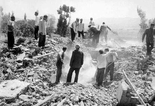 Over 12,000 people were killed when an earthquake which hit Iran's Ghazvan region in September, 1962
