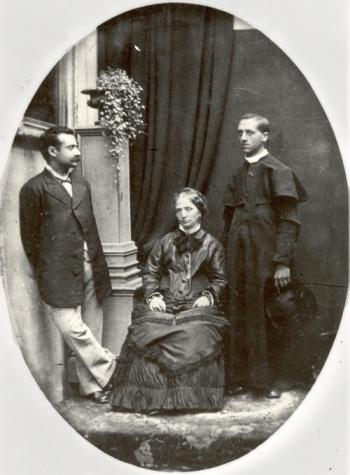 Edgardo Mortara with his parents