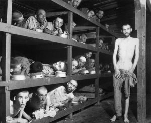 Slave laboreres in the Buchenwald concentration camp