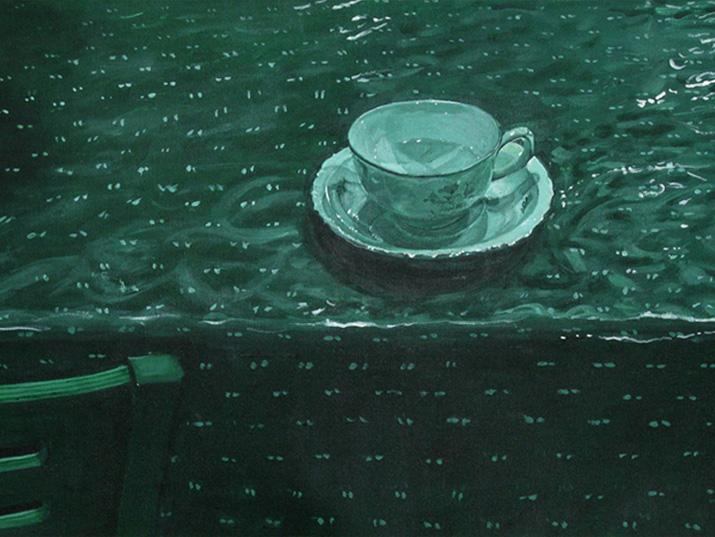 """דבורה מורג,""""פרט מתוך הליכות בית"""", צבע אקרילי על בד, 2014"""