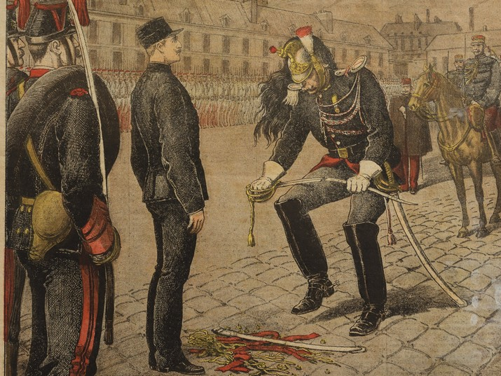 Alfred Dreyfus, stripped of his ranks, La Petite Journal, January 13, 1895. From the National Library's collections