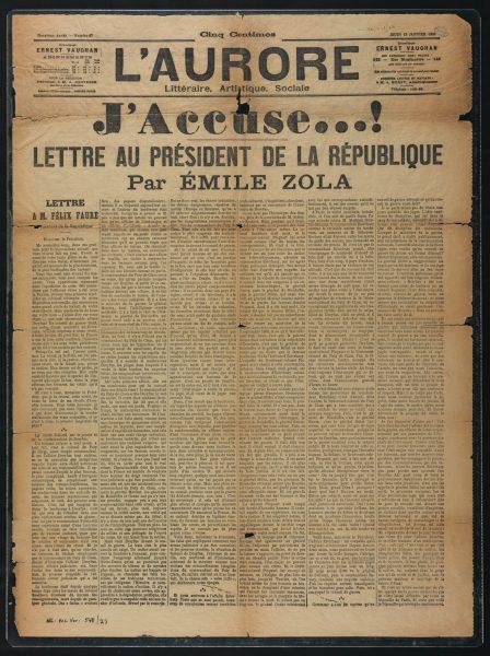 "Emile Zola's ""J'Accuse"""
