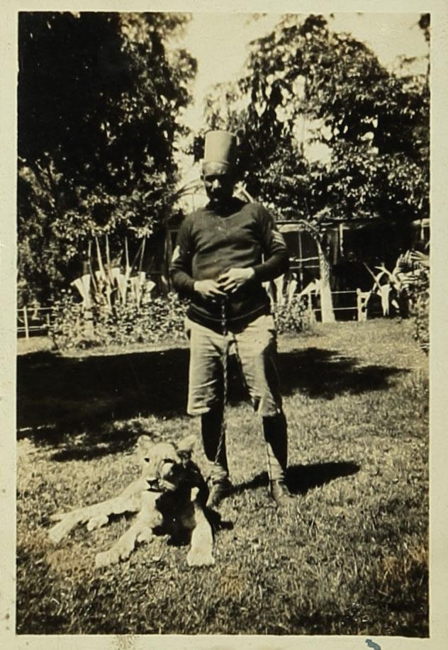 תצלומי אריות בגן החיות בגיזה, ספטמבר 1932. ארכיון אברהם מלניקוב, ARC. 4* 1956 03 38