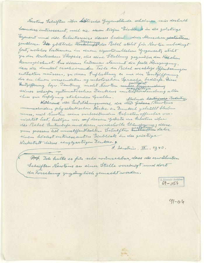 מכתבו של אלברט איינשטיין אל אברהם שלום יהודה, 1940