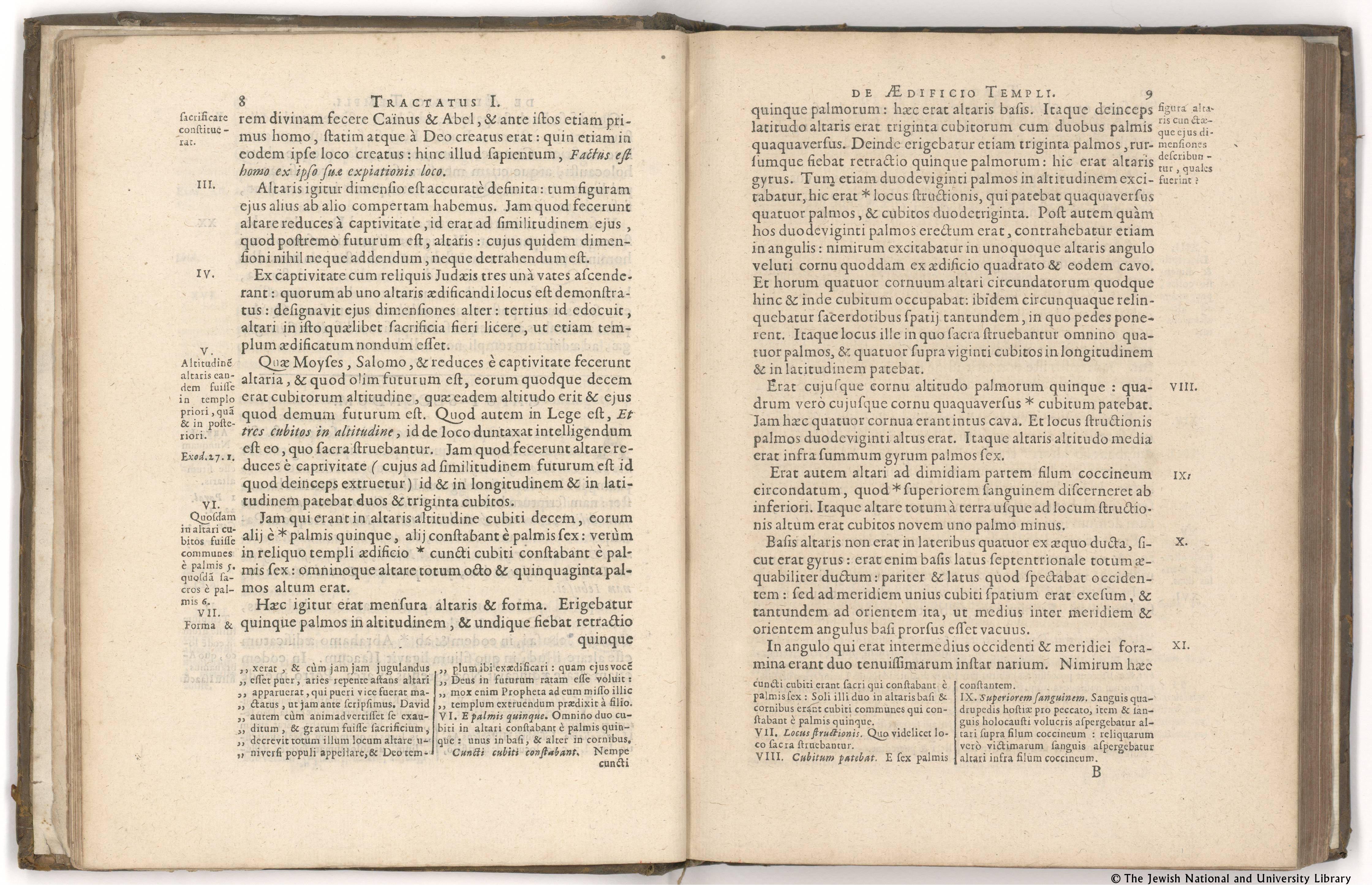 Moshe Ben Maimon (Maimonides) - Mishneh Torah, Sefer Avodah, 1678, the National Library of Israel collections