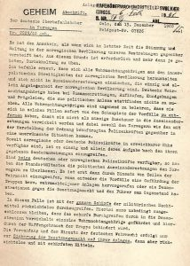 A facsimile of the first page of General Nikolaus von Falkenhorst's letter to his troops, as it appears in the booklet published by the British Government, from the National Library collections.