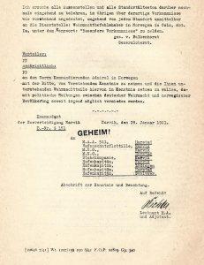 העתק העמוד השני במכתבו של הגנרל פון פלקנהורסט, מתוך החוברת, מאוספי הספרייה הלאומית