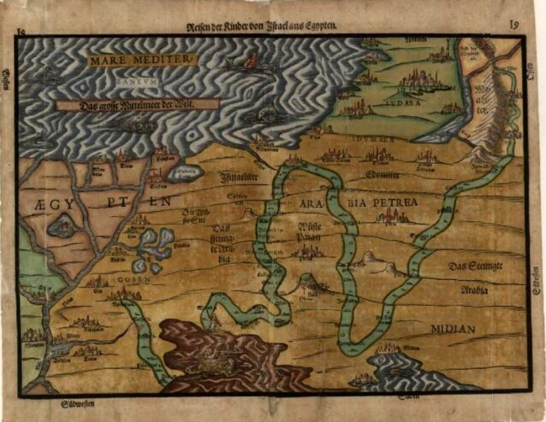 מפת Heinrich Bunting 1585,