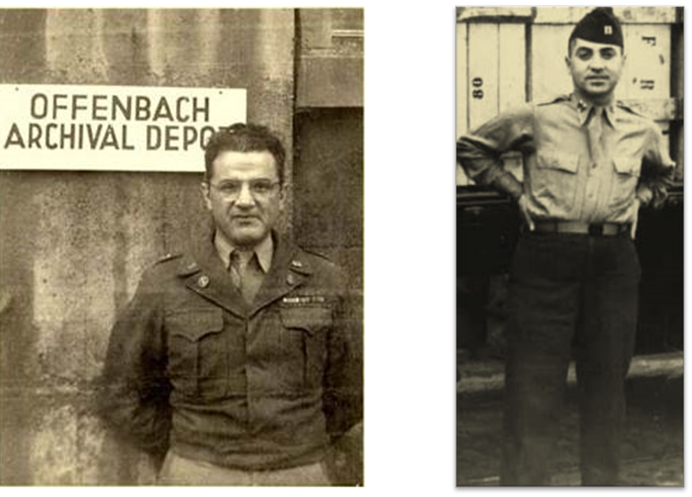 מימין: סימור פומרנץ; משמאל: אייזיק בנקוביץ