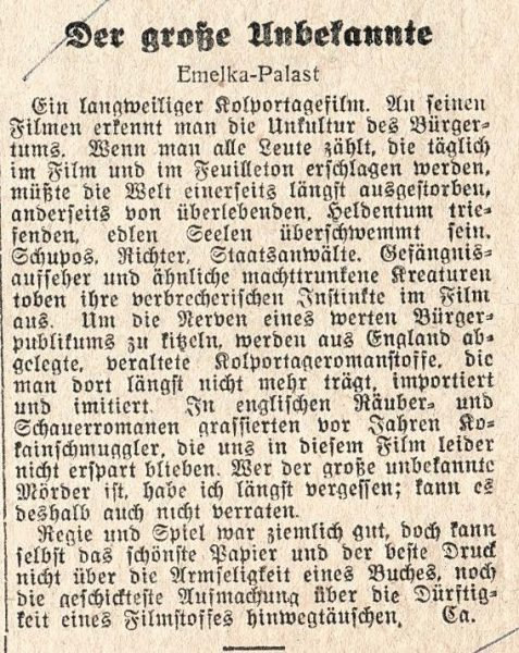 The text of Ehrenstein's review of the film