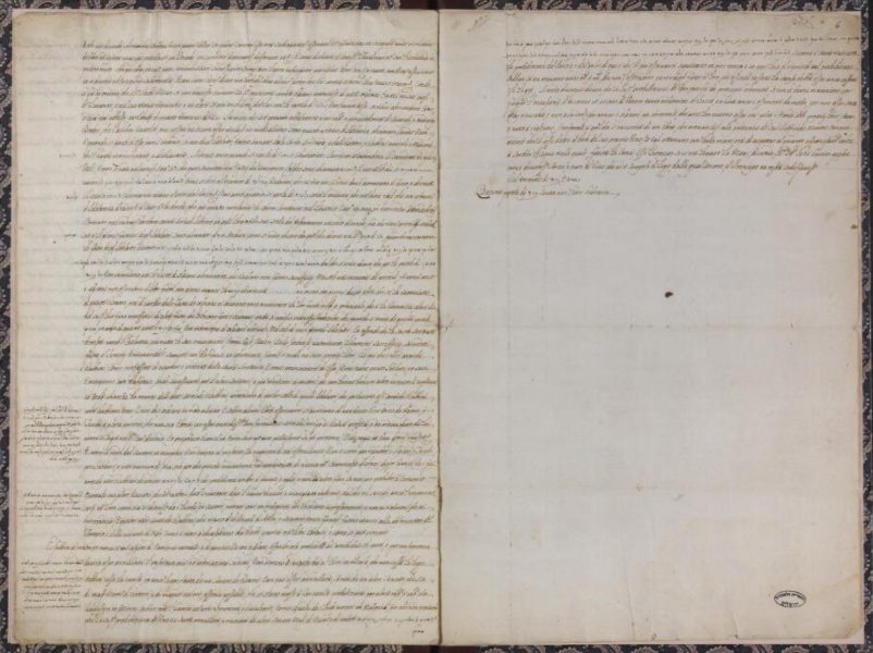 """A page from within the manuscript, """"General Response to the Desecration of Sanctity in the Hebrew Books,"""" from the National Library of Israel collections."""