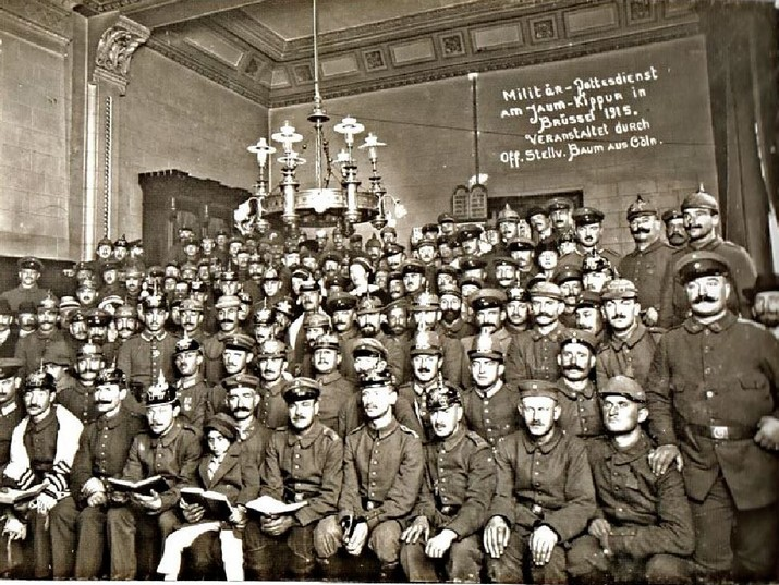 Yom Kippur in Brussels, 1915