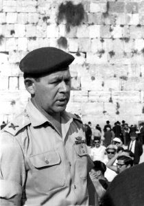 "Mordechai ""Motta"" Gur was the IDF officer who declared ""The Temple Mount is in our hands!"". Pictured here as a Brigadier General during Jerusalem Day celebrations in 1969. Photo by Jacob Elbaz, the Dan Hadani Collection at the National Library"