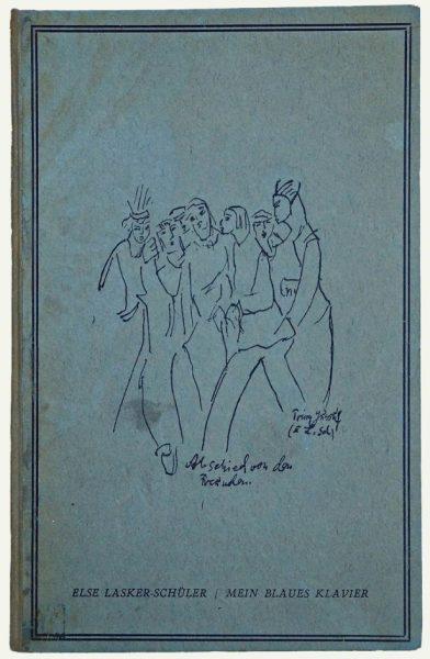 """""""פסנתרי הכחול"""", ספר שיריה של אלזה לסקר-שילר (1943)"""