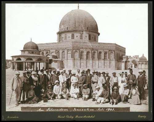 קבוצת תיירים גרמנים בהר הבית, 1903
