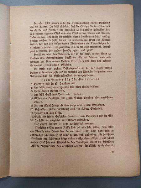 עשרת הדיברות של הדוקטרינה הנאצית למציאת רעיה
