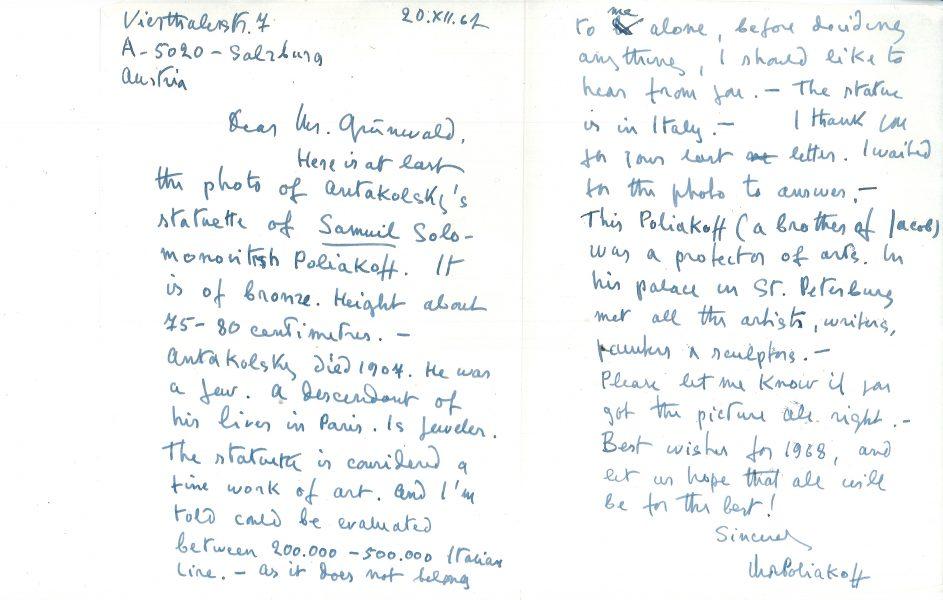 Mary Polyakov Letter