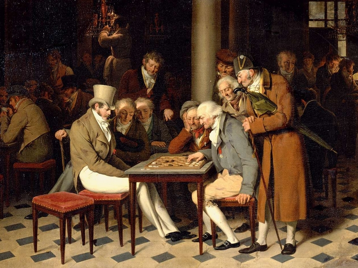A Game of Draughts at Cafe Lamblin by Louis Leopold Boilly