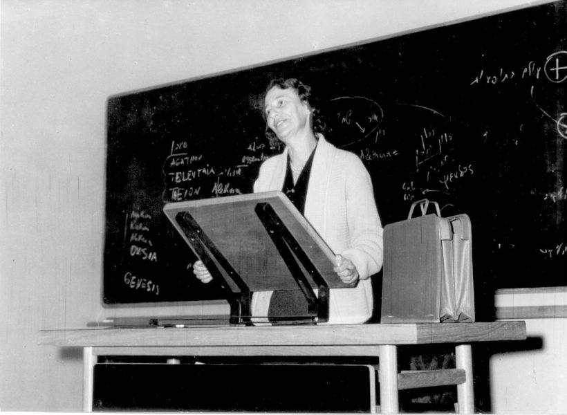 גולדברג מרצה באוניברסיטה העברית, 1968 לערך