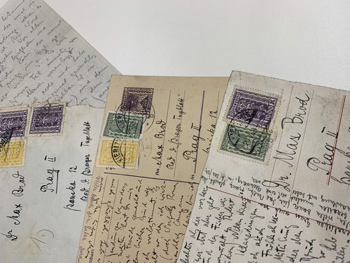 Postcards exchanged between Franz Kafka and Max Brod