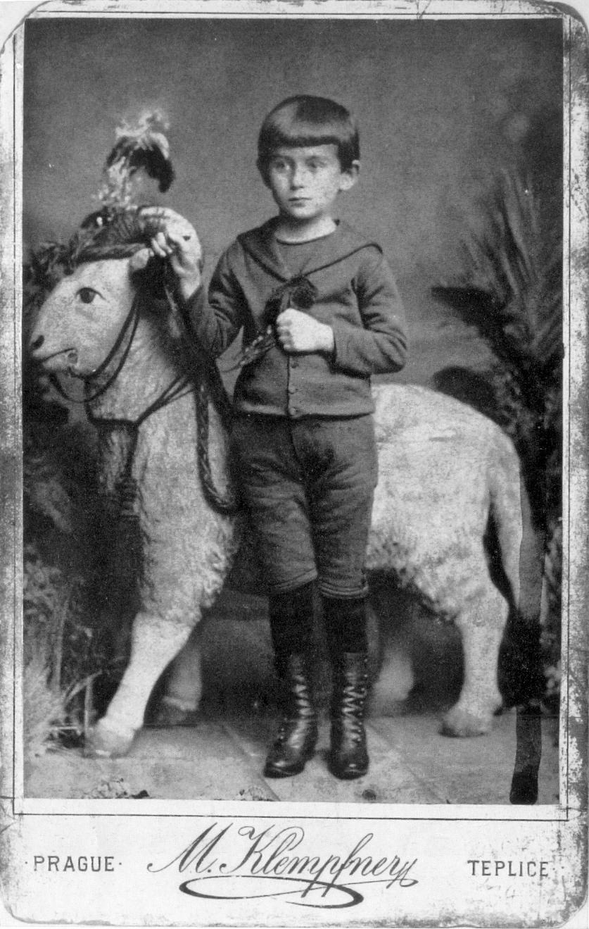 Franz Kafka as a child