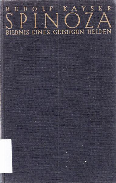 הביוגרפיה של ברוך שפינוזה מאת רודולף קייזר, 1932