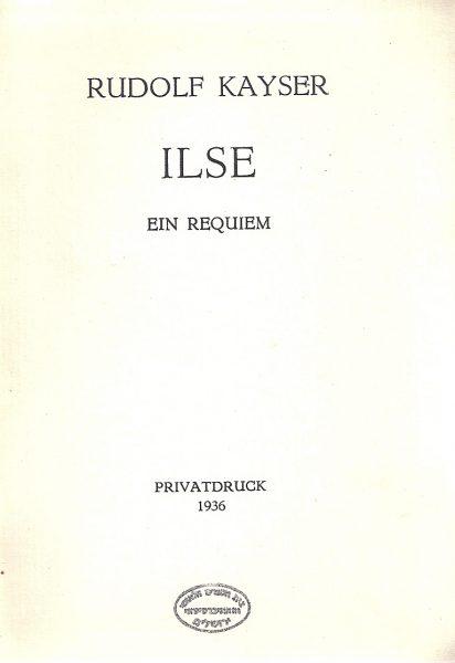 זכרונות על אשתו הראשונה אילזה (אינשטיין), 1936