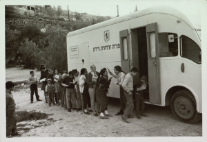 Photo by Photo Ross, Israeli Bookmobile, 1963, the Pritzker Family National Photography Collection at the National Library of Israel