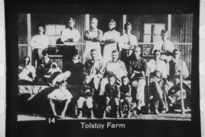 Tolstoy Farm in South Africa, 1910 - Gandhi and Kallenbach center row, center