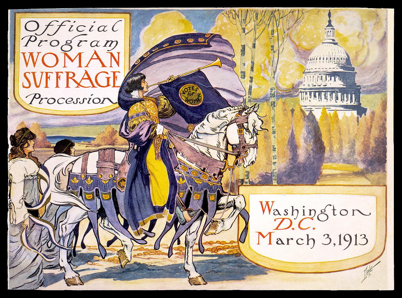 גלויה של התנועה הסופרגיסטית, 1913