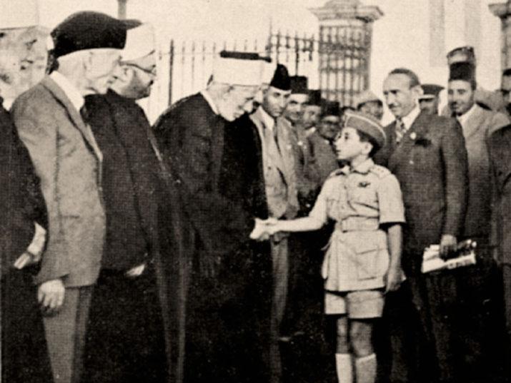 الملك الصغير في حضرة المسجد الأقصى المبارك